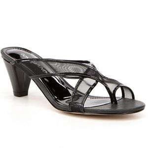 Nwot Donald pliner vilo black mesh heels